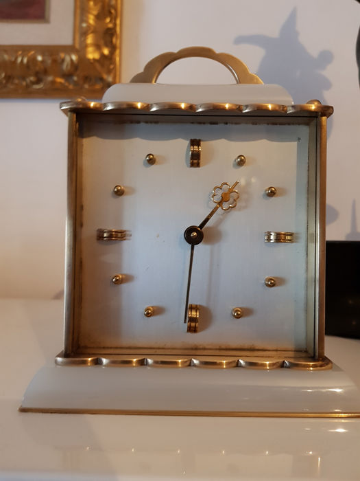 Tabletop clock - Brass, Marble - Early 20th century