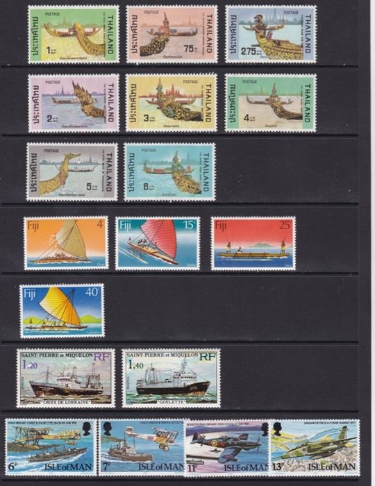 Wereld 1967/2007 - topic boats -  Sets, Complete set. Block
