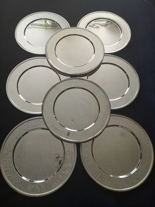 8 Silvered Bottom Boards - Stainless steel 18/10 Silvered