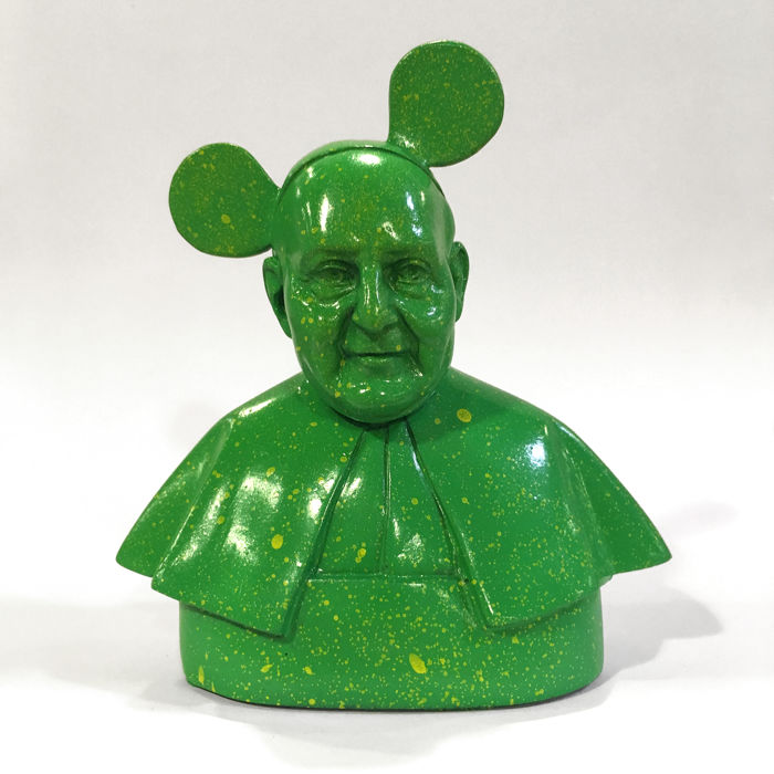 Bunko - Pope Mickey (green/yellow)