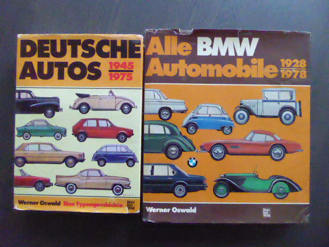 Libros - Lot; 2 Books on Deutsche autos & Alle BMW automobile - 1987-1985