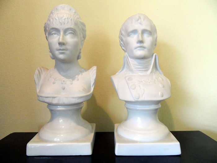 Bust, NAPOLEON AND JOSEPHINE (2) - Porcelain - Second half 20th century