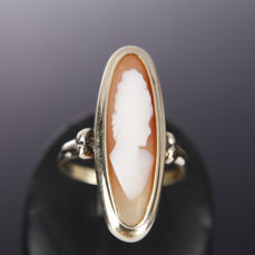 14 kt. Yellow gold - Ring Cameo