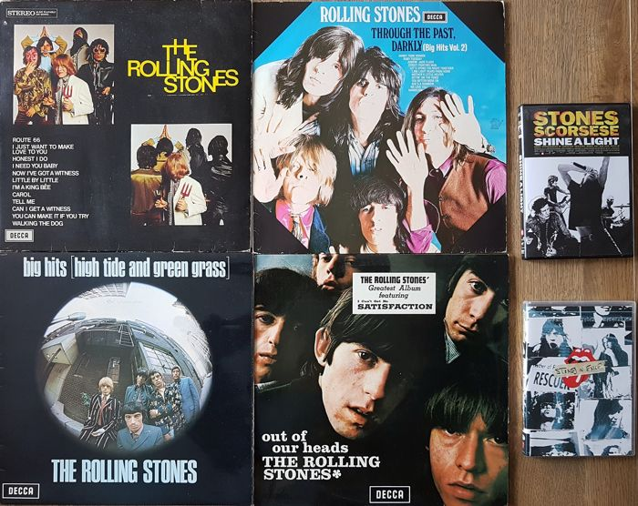 Rolling Stones - 4 Early Stones albums (60's) + 2 DVDs