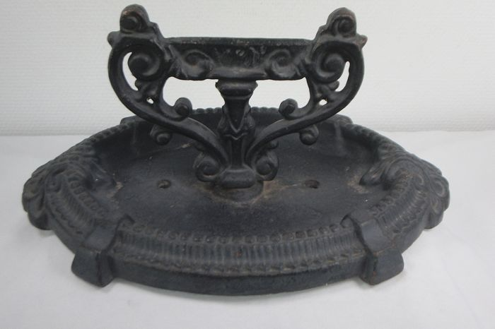 Large Robust French Cast Iron Boot Scraper - Iron (cast/wrought)