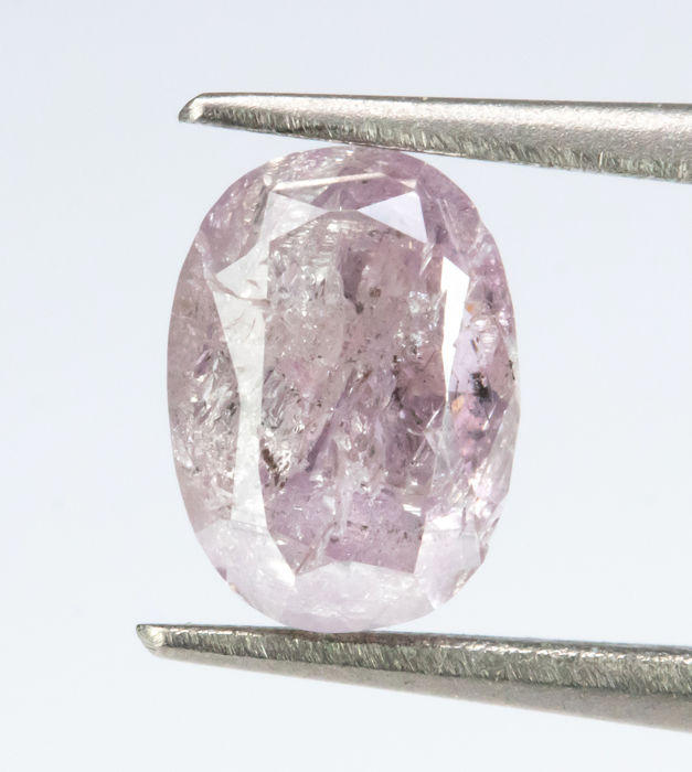 Diamante - 0.80 ct - Rosa púrpura fantasía natural - I3  *NO RESERVE*