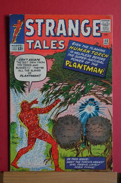 Strange Tales #113 - The Human Torch the Coming of the Plantman! - Brossura - Prima edizione - (1963)