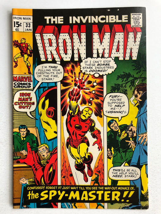 Iron Man #33 - 1st Appearance Of The Spy Master - Higher Grade!!! - Softcover - Eerste druk - (1971)