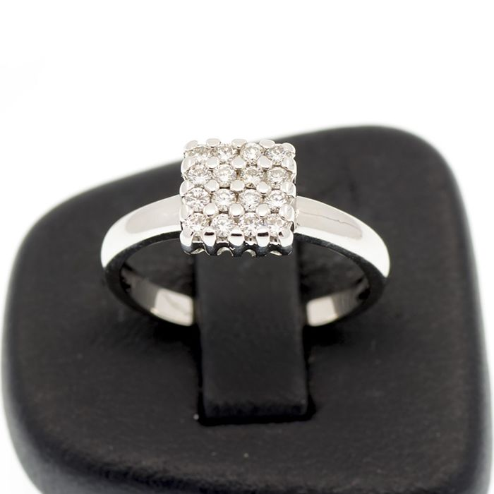18 karaat Witgoud - Ring Diamant