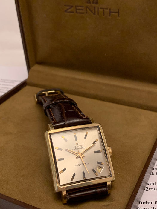"""Zenith - Respirator """"Kennedy"""" Automatic, With Vintage Zenith Box - 2542PC (NO RESERVE PRİCE) - Hombre - 1960-1969"""