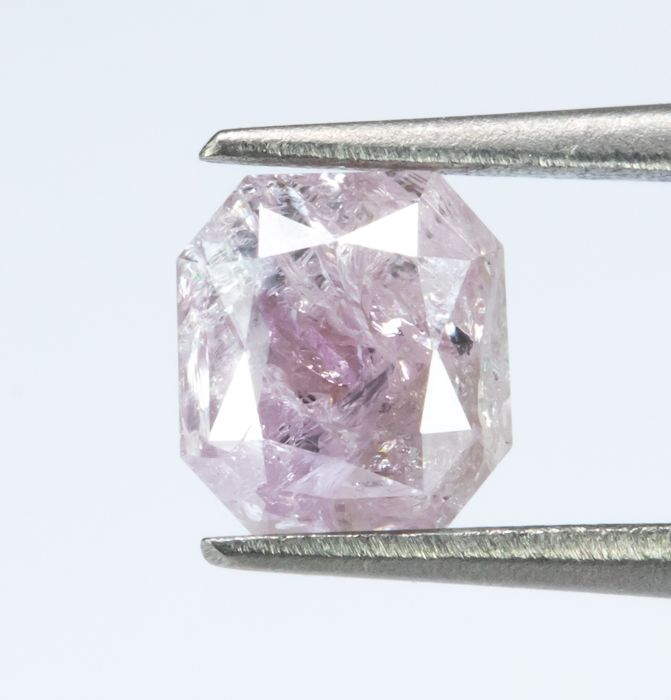 Diamante - 0.70 ct - Rosa púrpura fantasía natural - I3  *NO RESERVE*