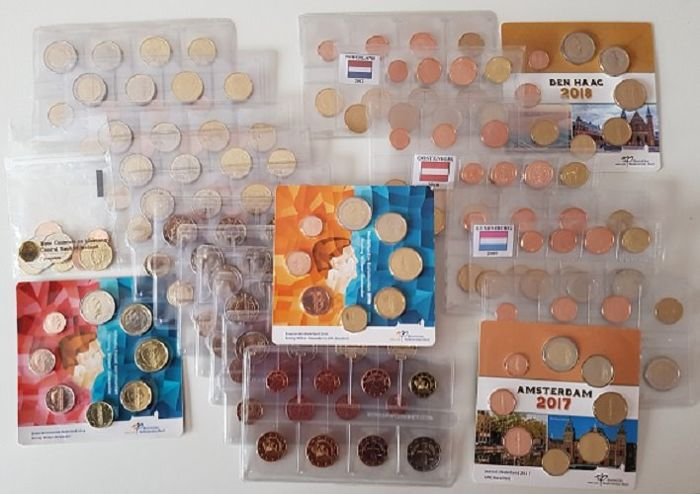 CYPRUS 2017 COMPLETE EURO COINS SET UNC IN NICE PACKING