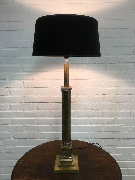 Large Brass Table Lamp - Neoclassical Style