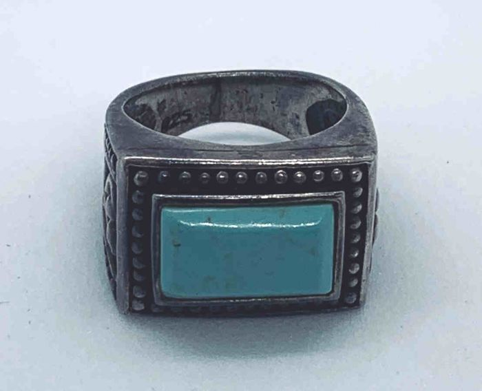 Vintage - 925 Zilver - Ring - 2.50 ct Turquoise