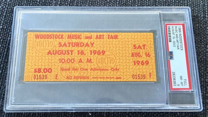 Woodstock & Related - PSA - Official (concert) ticket - 1969