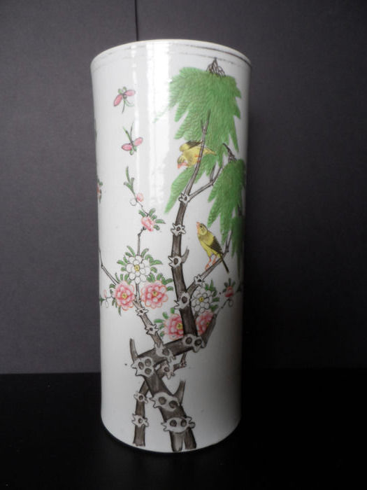 brushpot - Floraal - Porselein - China - circa 1945