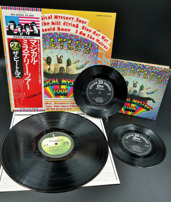 Beatles - Magical Mystery Tour Compilation LP and Single`s