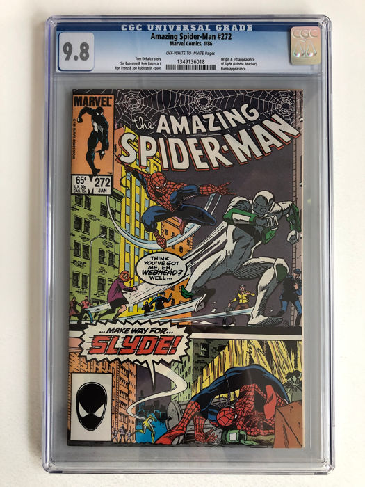 The Amazing Spider-Man #272 - Origin & 1st Appearance Of Slyde - Puma Appearance - CGC Graded 9.8!!! - Extremely High Grade!!!! - Softcover - Eerste druk - (1986)