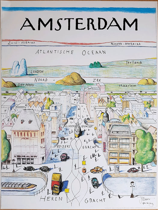 J.S. Faber - Amsterdam, after Steinberg - 1981