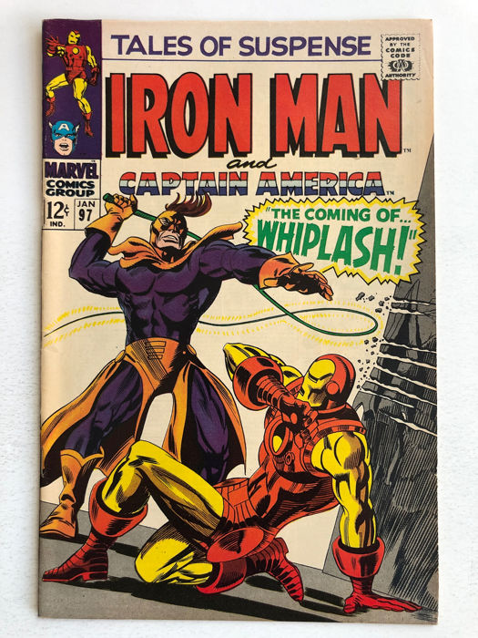 Tales Of Suspense #97 - 1st Appearance Whiplash - Very High Grade!!! - Softcover - Eerste druk - (1968)