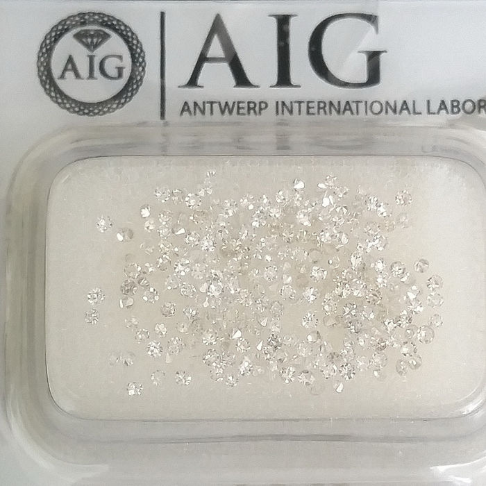 231 pcs Diamanten - 1.00 ct - Rond - D (kleurloos), E, F - No Reserve Price, SI1, SI2, VS1, VS2, VVS1, VVS2
