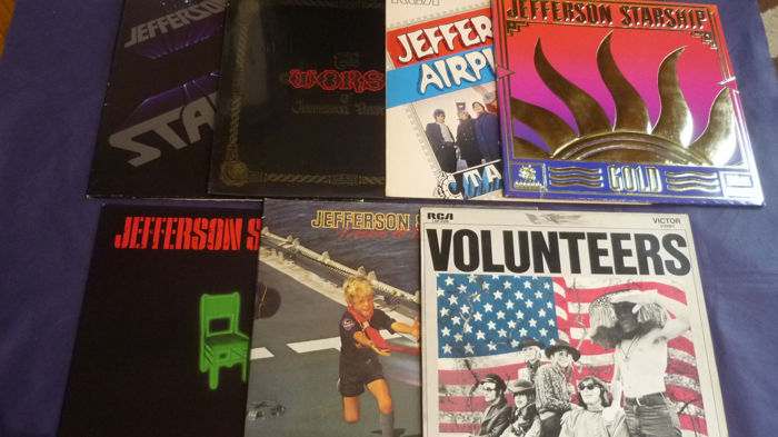 "Jefferson Starship / Jefferson Airplane - 7 Historic Albums incl. rare Italian ""Takes Off"" - Diverse titels - LP's - 1970/1984"