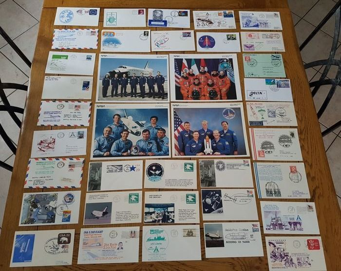 Quatre photos NASA et 33 enveloppes FDC Nasa - Verzameling - Papier