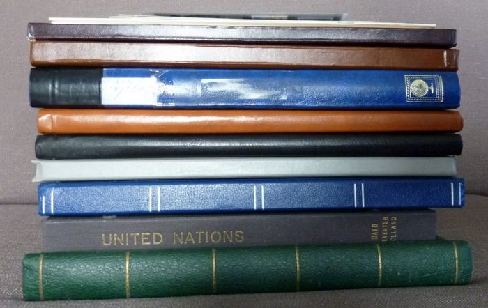 World - Collection in nine stock books + loose material