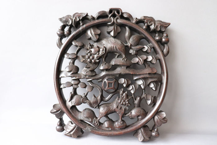 Circular Panel  - Wood - China - Republic period (1912-1949)
