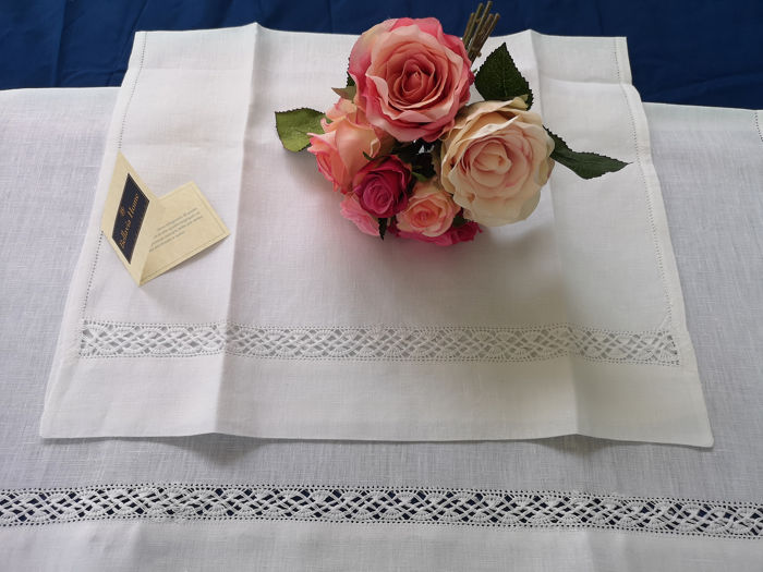 1 + 1 Bellavia towels Pure linen embroidery with Gigliuccio embroidery by hand - Linen - AFTER 2000