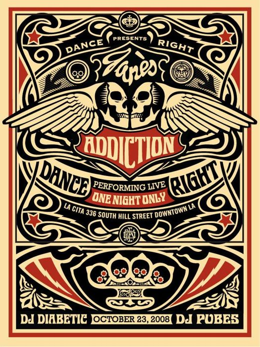 Shepard Fairey (OBEY) - Jane's Addiction