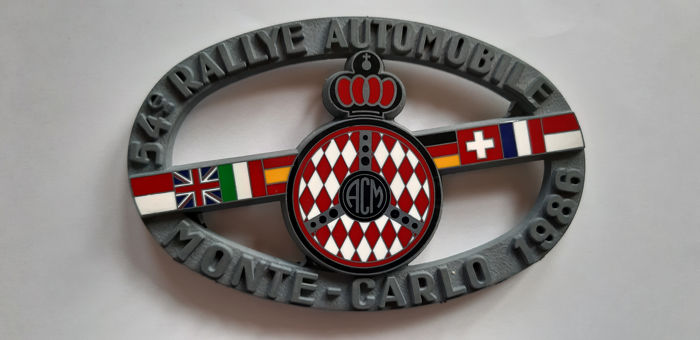 Decoratief object - PLAQUE 54 èime  Rally Monté Carlo 1986 - 1986-1986