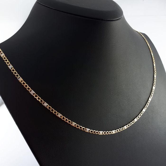 14 kt. White gold, Yellow gold - Necklace