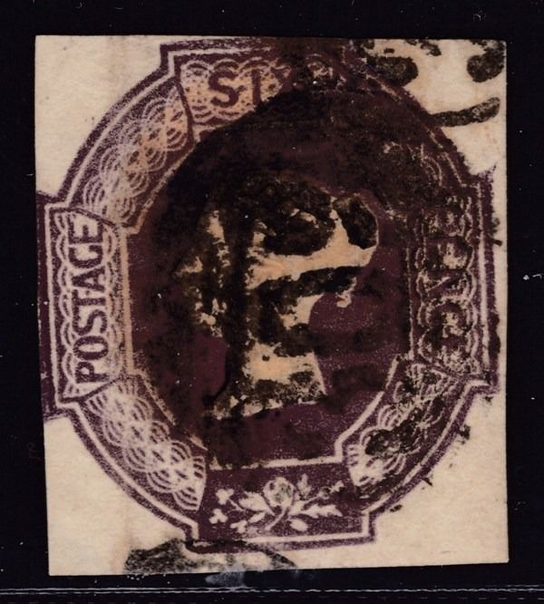 Gran Bretaña 1847/1854 - Victory Reign - Embossed - Six Pence  Violet - Gateshead - Stanley Gibbons 60