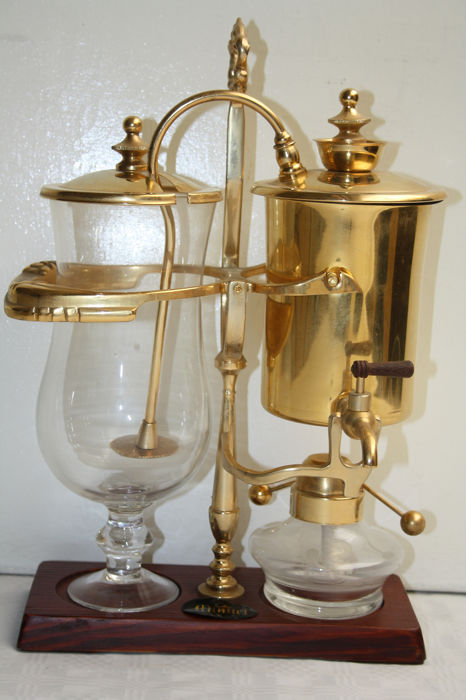 minuet - Copper coffee maker (1) - glass, copper, metal & brass