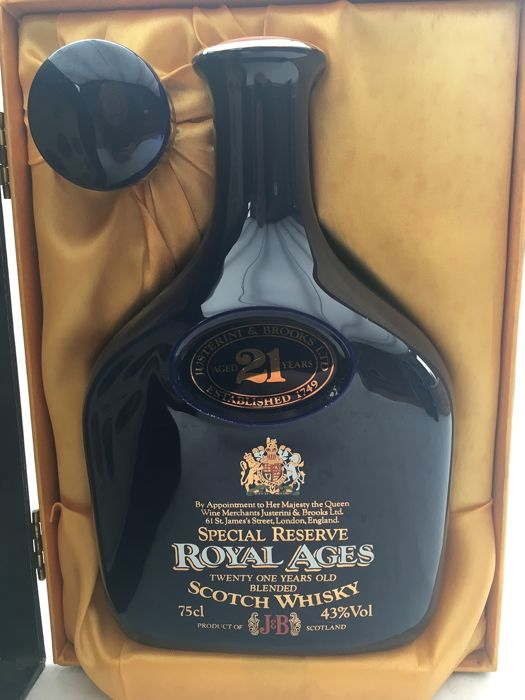 J&B 21 years old Special Reserve Royal Ages - 75cl