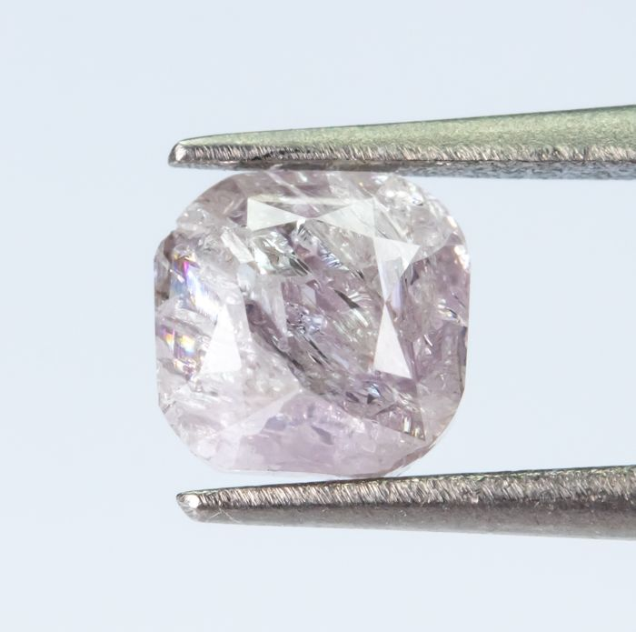 Diamante - 0.71 ct - Rosa fancy chiaro violaceo naturale - I3  *NO RESERVE*