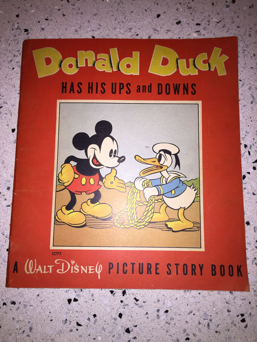 Donald Duck - Donald Duck  has his ups and downs picture story book - Broché - EO - (1937)