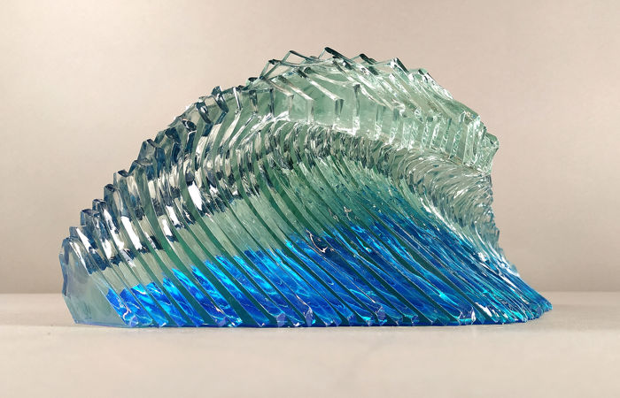 Yan Sugem - Art and Design - Glass Wave - sheets of glass