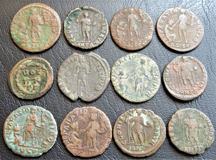 Roman Imperial - Lot of 12 Bronze coins - AE20/24mm