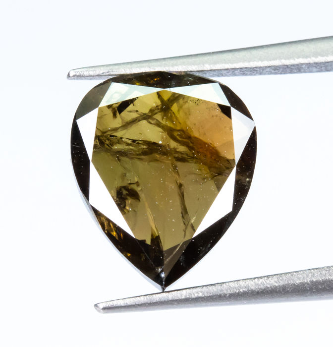 Diamante - 1.48 ct - Natural Fancy DEEP Yellowish Brown - I1  *NO RESERVE*