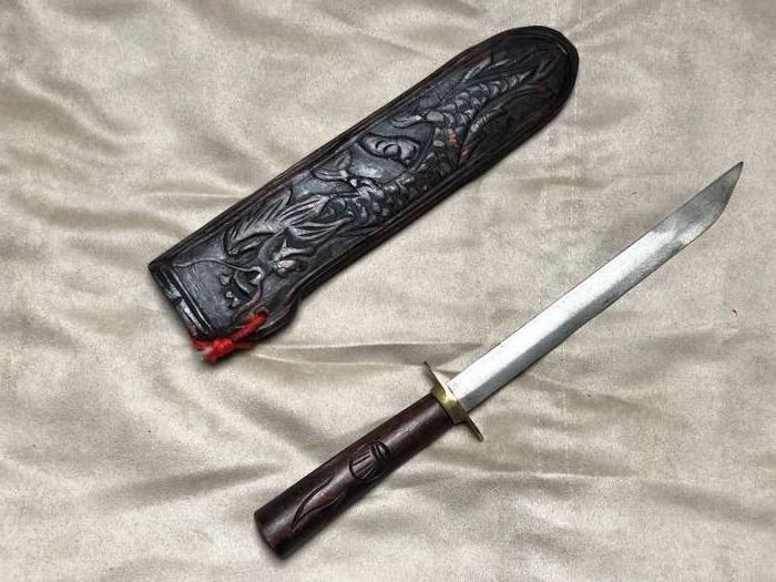 Zuid-Afrika - Very rare Knife completely handmade from a tribe of South Africa, for ceremonies and hunting - Hunting - Mes