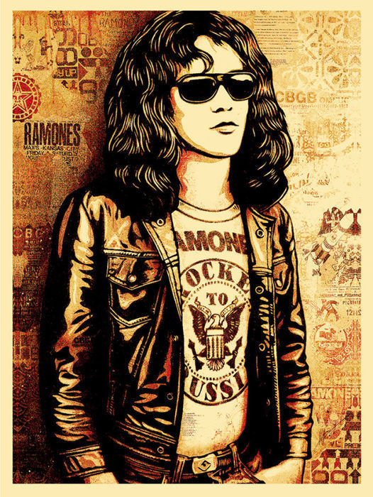 Shepard Fairey (OBEY) - Tommy Ramone (Red)