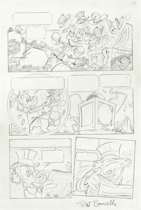 Disney - Original comic page - Scrooge Duck - Bancells - First edition