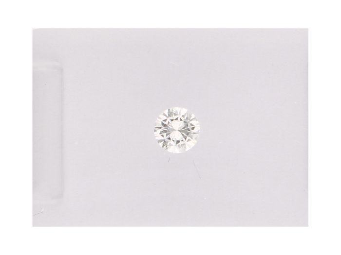 1 pcs Diamante - 0.12 ct - Brillante - E - VVS1