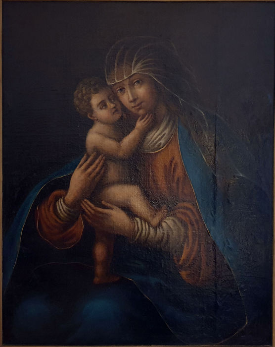 Continental School  - Madonna with Child