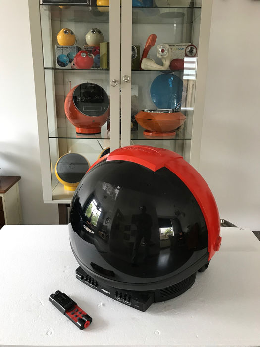 Vintage space age Philips Discoverer nasa casque tv
