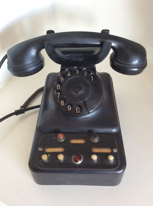 SAFNAT Milano - Bakelite telephone for switchboard - Bakelite