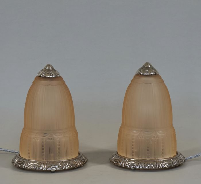 Muller Frères -  a pair of French 1930 Art Deco lamps