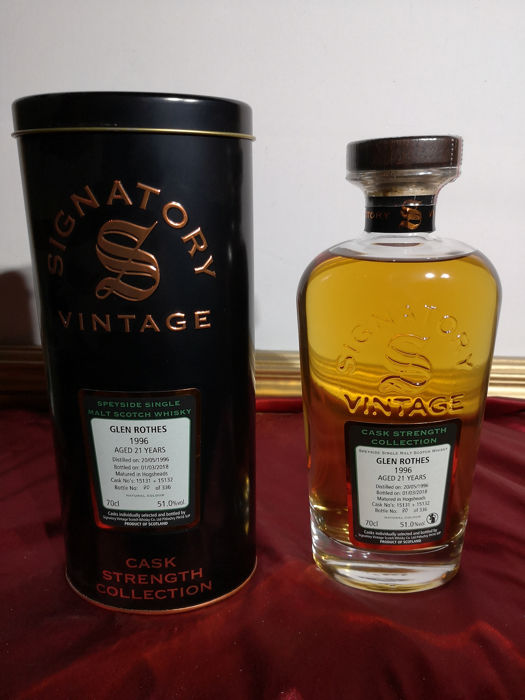Glenrothes 1996 21 years old Cask Strength Collection - Signatory Vintage - 0,7ltr